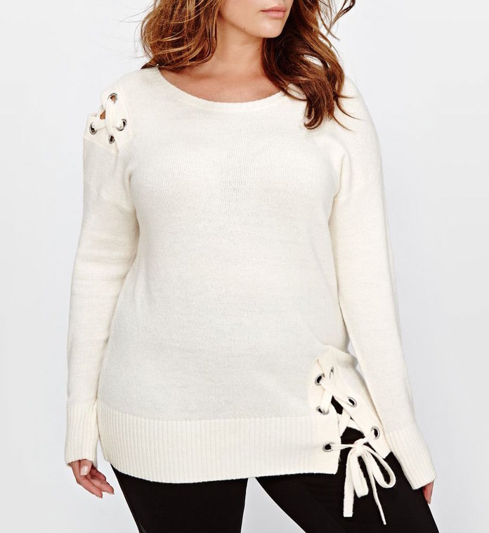 The Lace-Up Sweater by Addition Elle