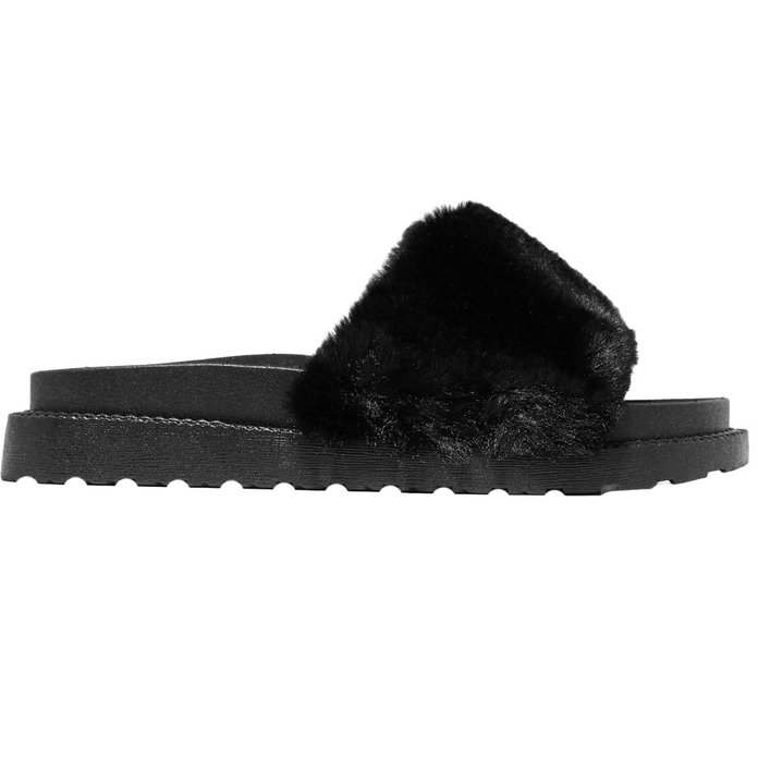 <p>Faux Fur Slides</p>