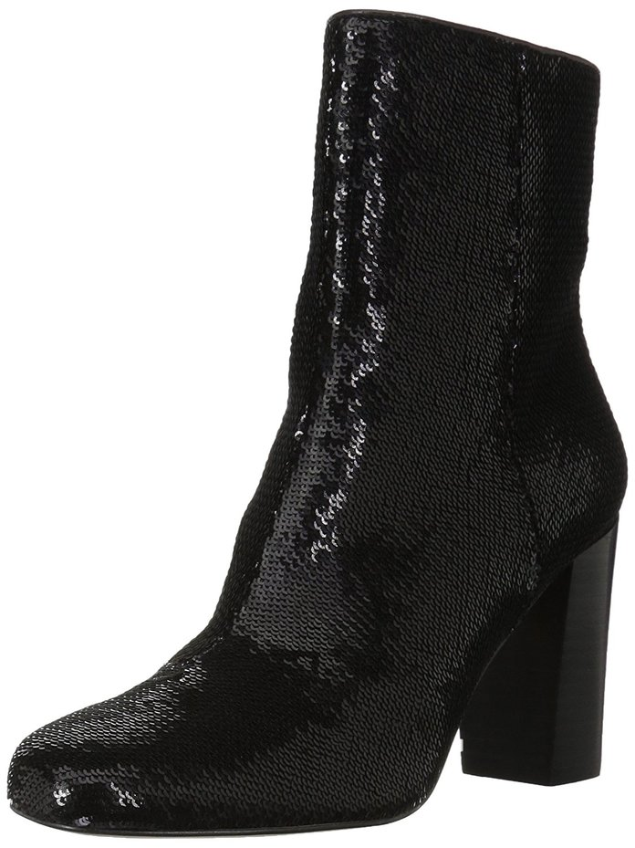 The Fix Sutton Round-Toe Sequin Ankle Boot