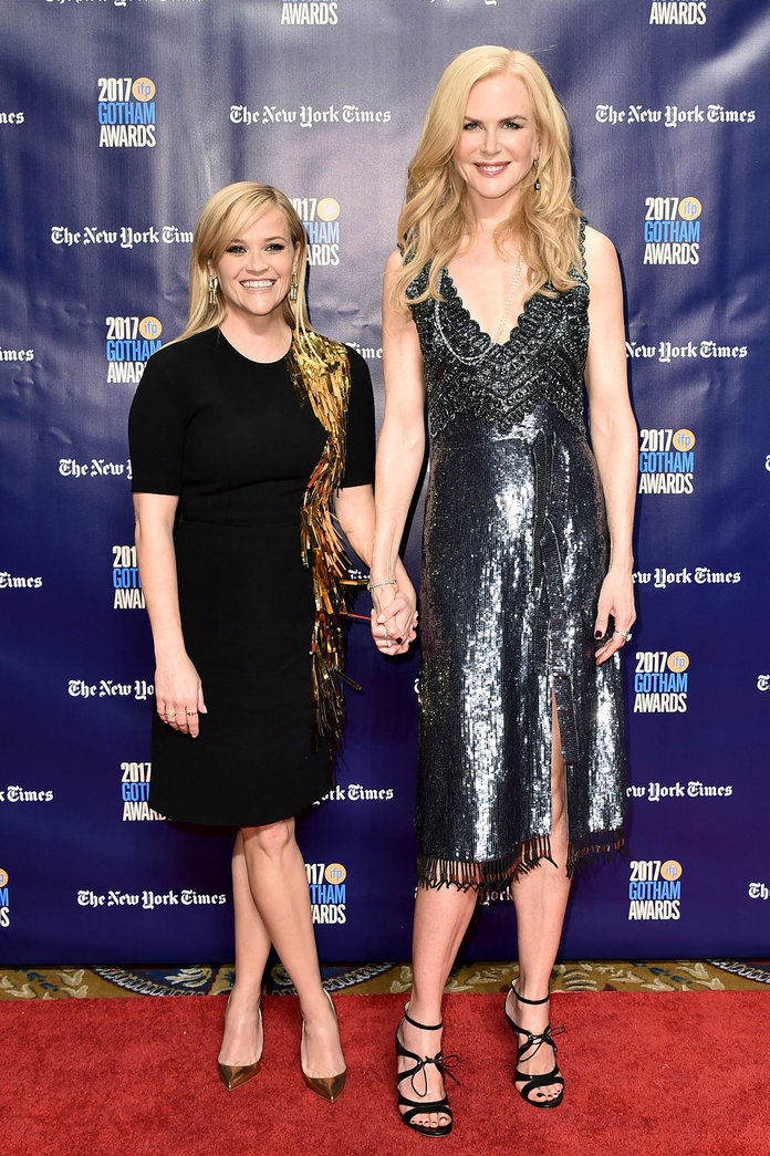 Nicole Kidman and Reese Witherspoon Twinned in Metallic Frocks at the Gotham Awards