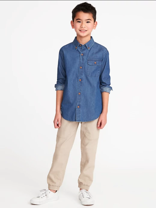 Old Navy Indigo Pocket Shirt