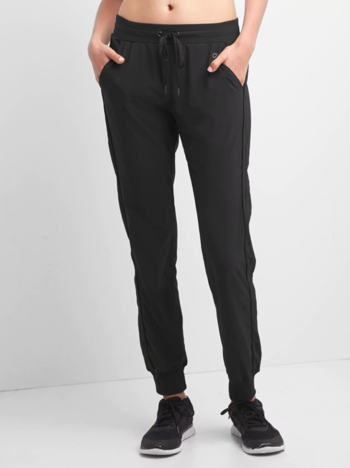 Studio stripe-panel joggers