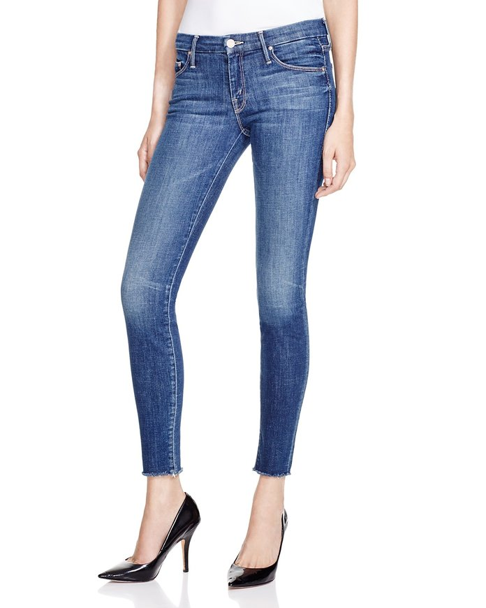 Mother Denim The Looker Ankle Fray Skinny Jeans in Girl Crush