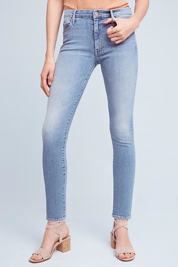 Mother Denim The High-Waisted Looker Skinny Petite Jeans