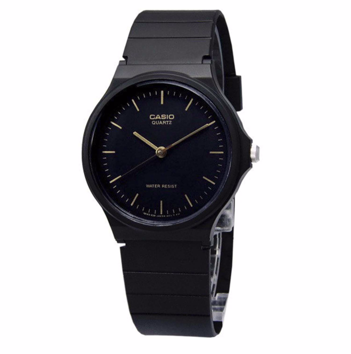 Casio Mens Black Dial Black Resin Strap Watch MQ24-1ELLUB