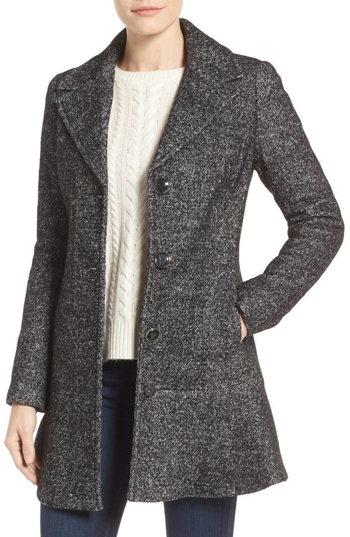 <p>Notch Lapel Peplum Coat</p>