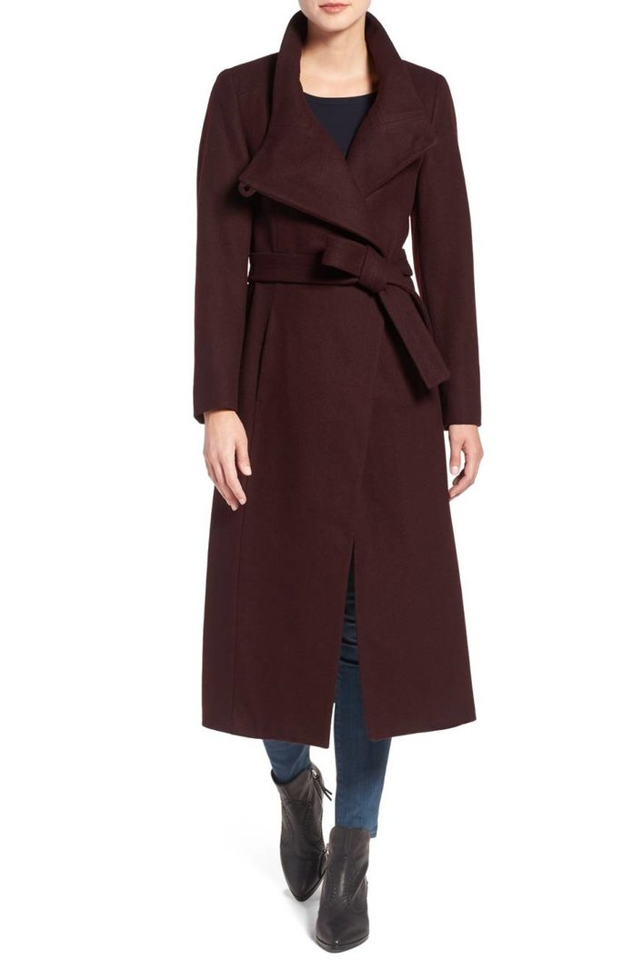<p>Wool Blend Maxi Wrap Coat</p>