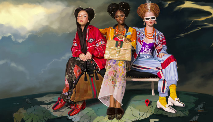 The Digital Paintings in Gucci's New Campaign Belong in a Museum