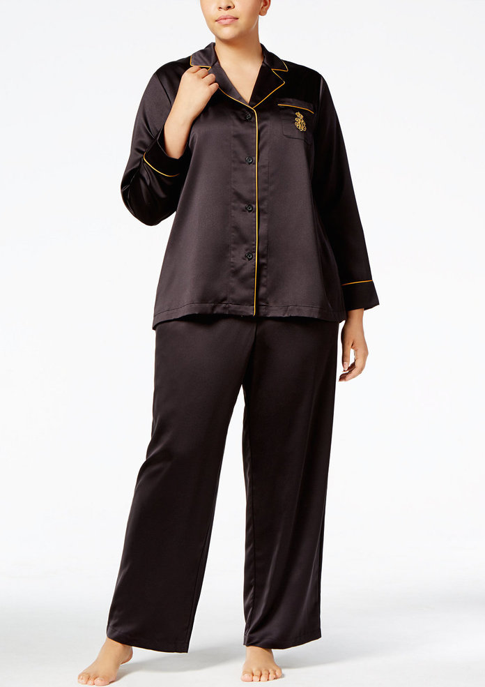 <p>Satin Pajamas by Lauren by Ralph Lauren</p>