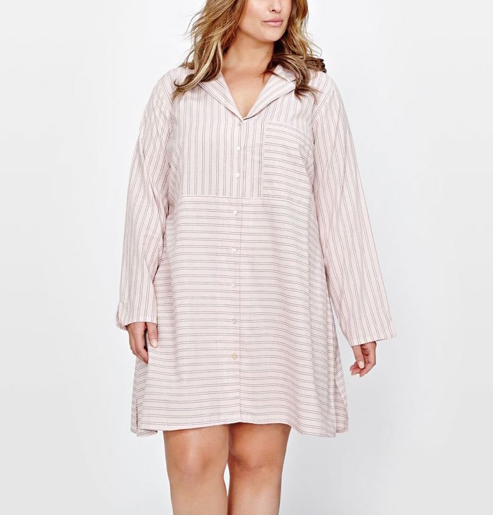 <p>Long Sleeve Shirtdress by Addition Elle</p>