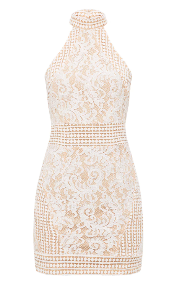 <p>White Lace Dress</p>