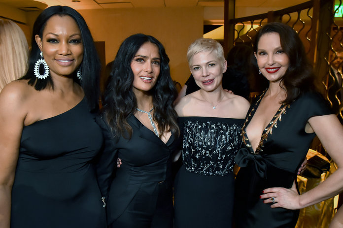 <p>Garcelle Beauvais, Salma Hayek, Michelle Williams, and Ashley Judd</p>