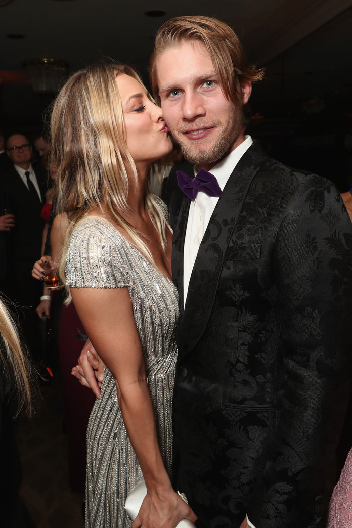 <p>Kaley Cuoco and Karl Cook</p>