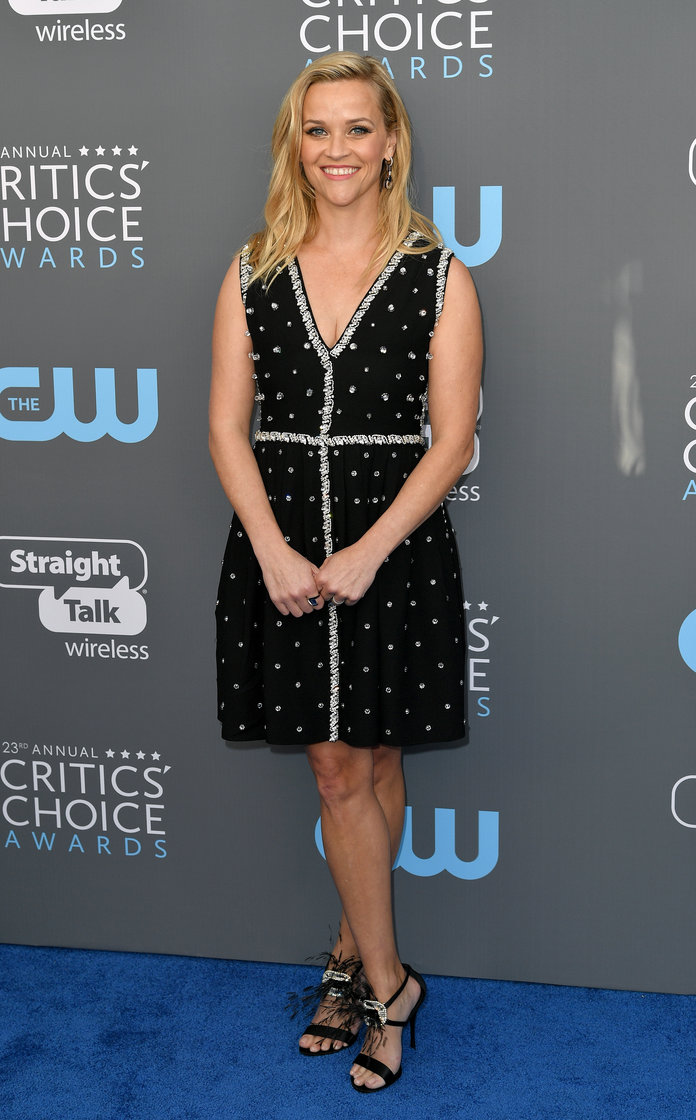 Reese Witherspoon And Laura Dern Continue To Support Time's Up At Critics' Choice Awards