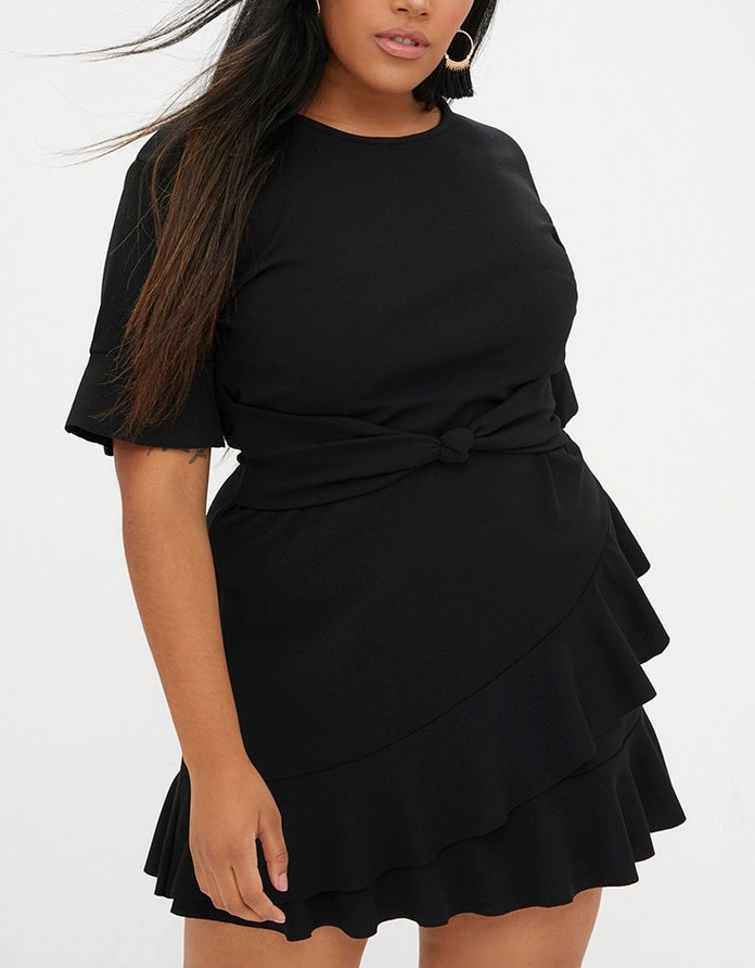 little black dress with ruffles