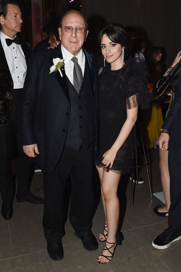 Camila Cabello and Clive Davis