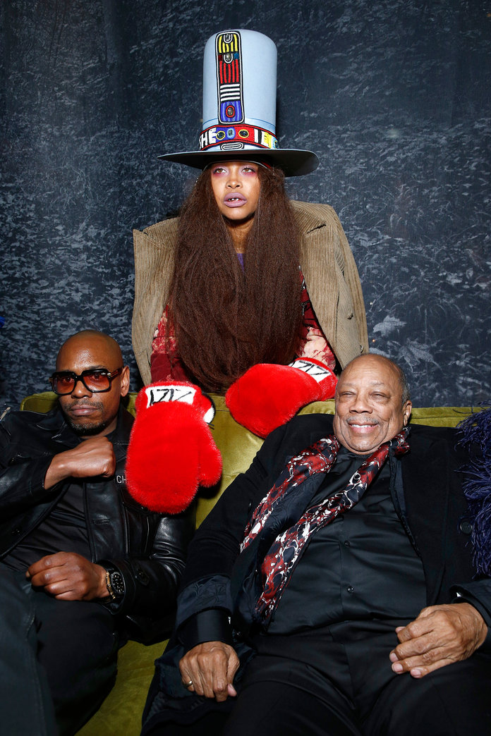 Erykah Badu, Dave Chappelle, and Quincy Jones