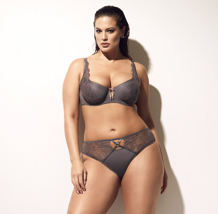 ashley graham in addition elle bra and panty