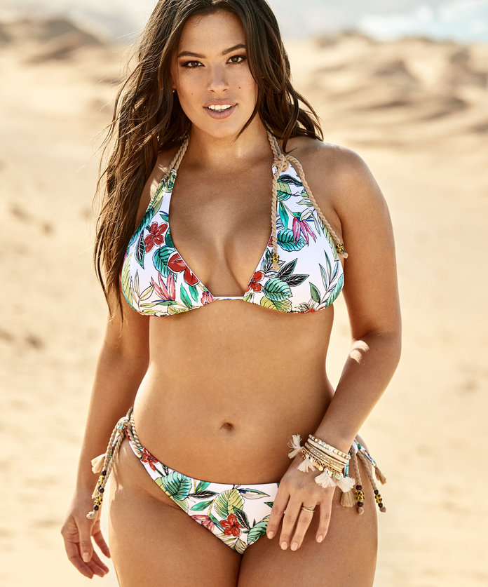 ashley graham printed bikini