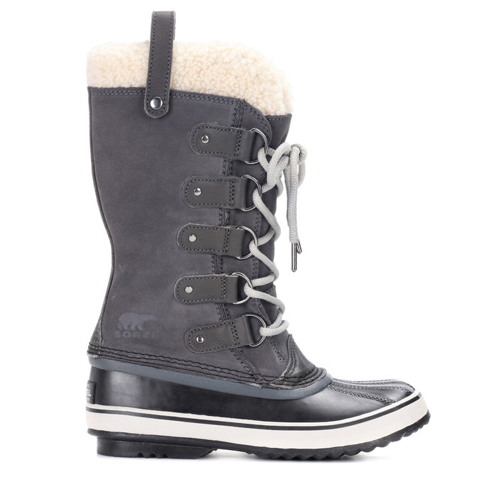 <p>SHEARLING-TRIMMED SUEDE AND RUBBER BOOTS</p>