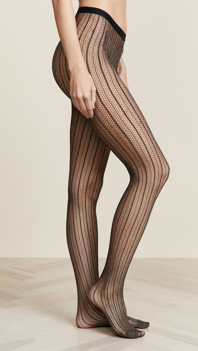 striped black tights