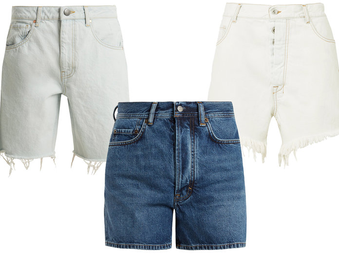 Long Inseam Denim Shorts