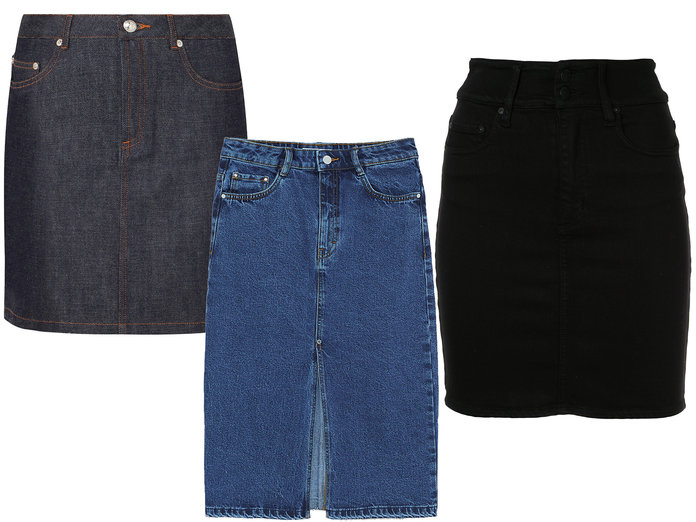 The New Denim Skirts
