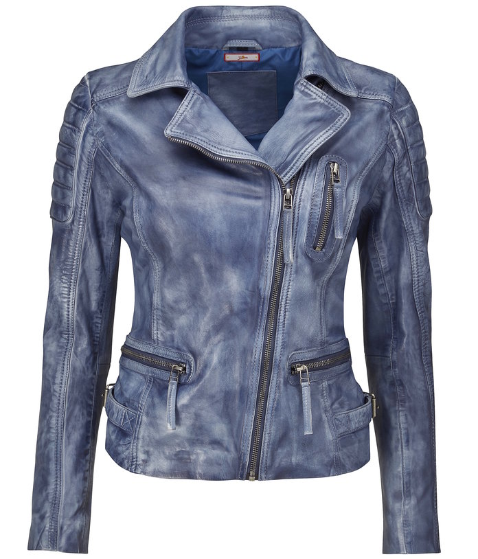 faded leather jacket