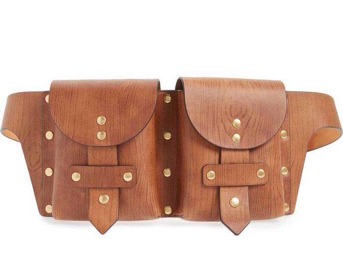 studded tan fanny pack