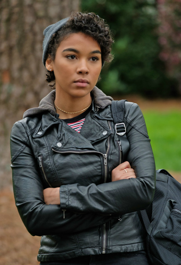 <p>Alexandra Shipp as Abby</p>
