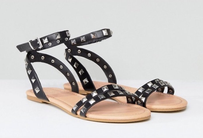 Studded Simple Sandals by ASOS