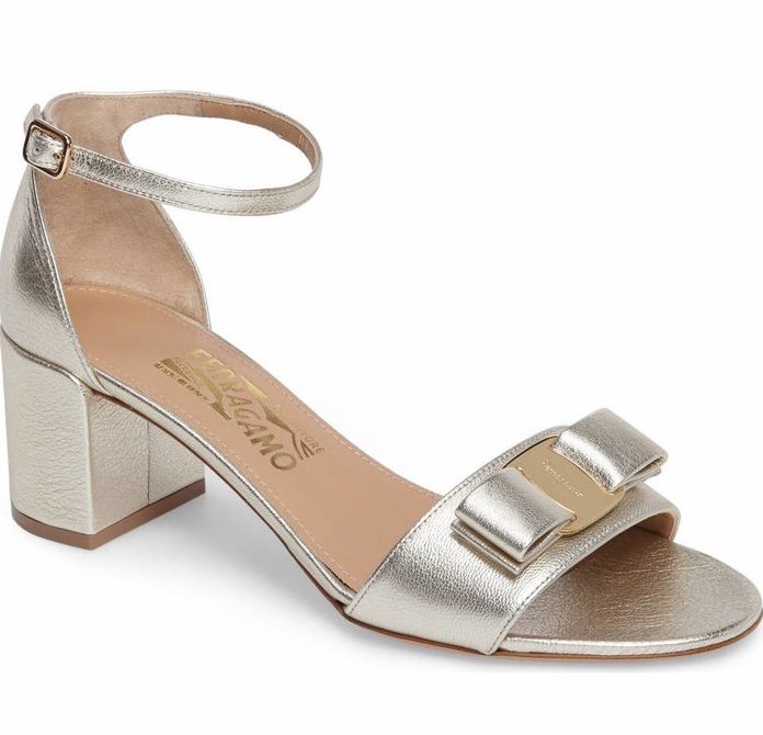 Metallic Sandals by Salvatore Ferragamo
