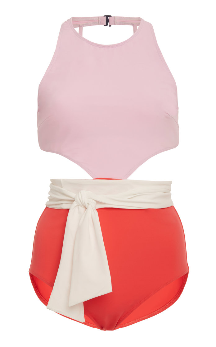 color block swimsuit