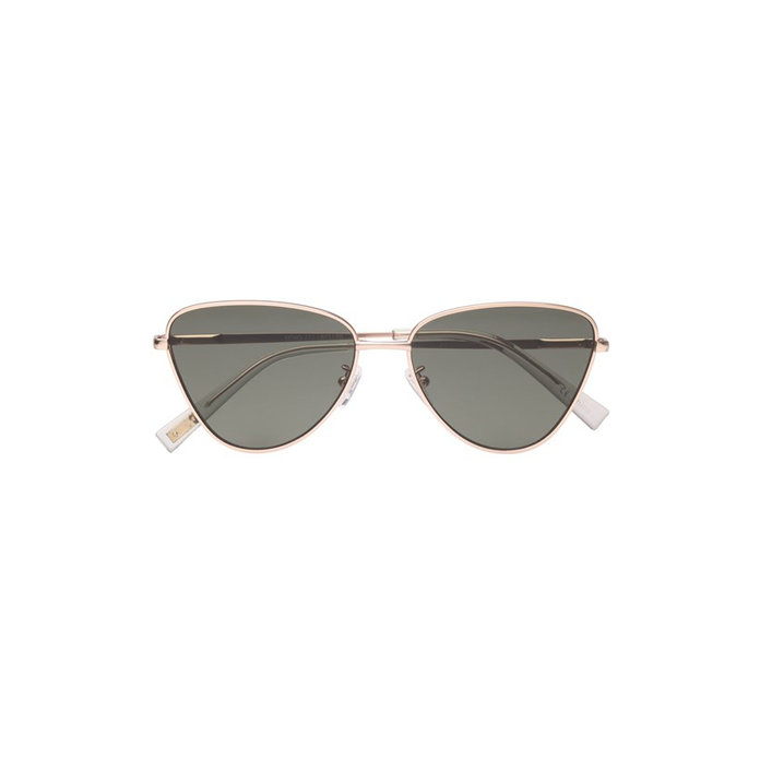 Matte Gold Cat Eye Sunglass