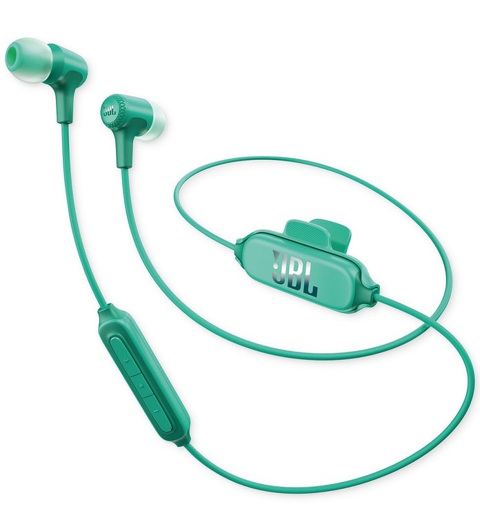 green earbuds