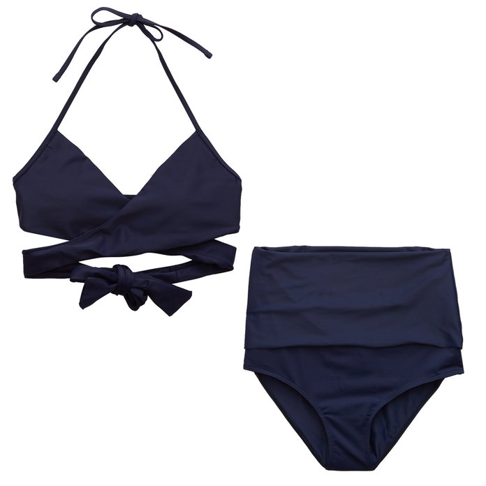 <p>Aerie Wrap and High Waisted Bikini</p>
