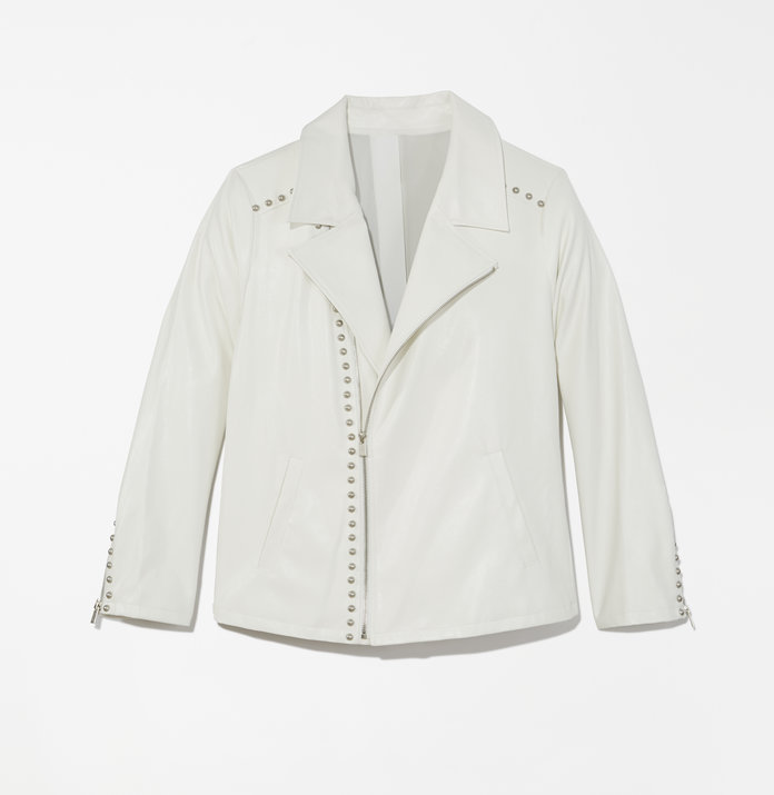 Perla Faux Leather Blazer