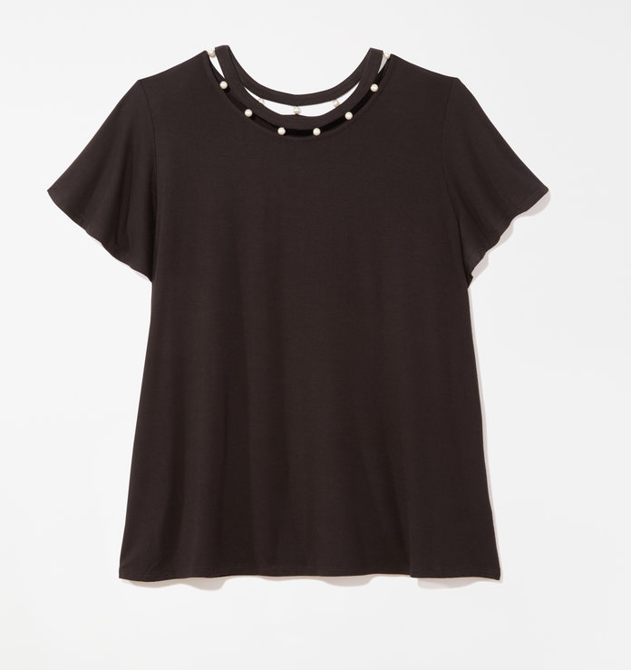 black embellished t-shirt