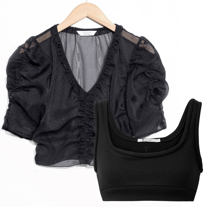 <p>The Problem: A See-Through Black Blouse</p>