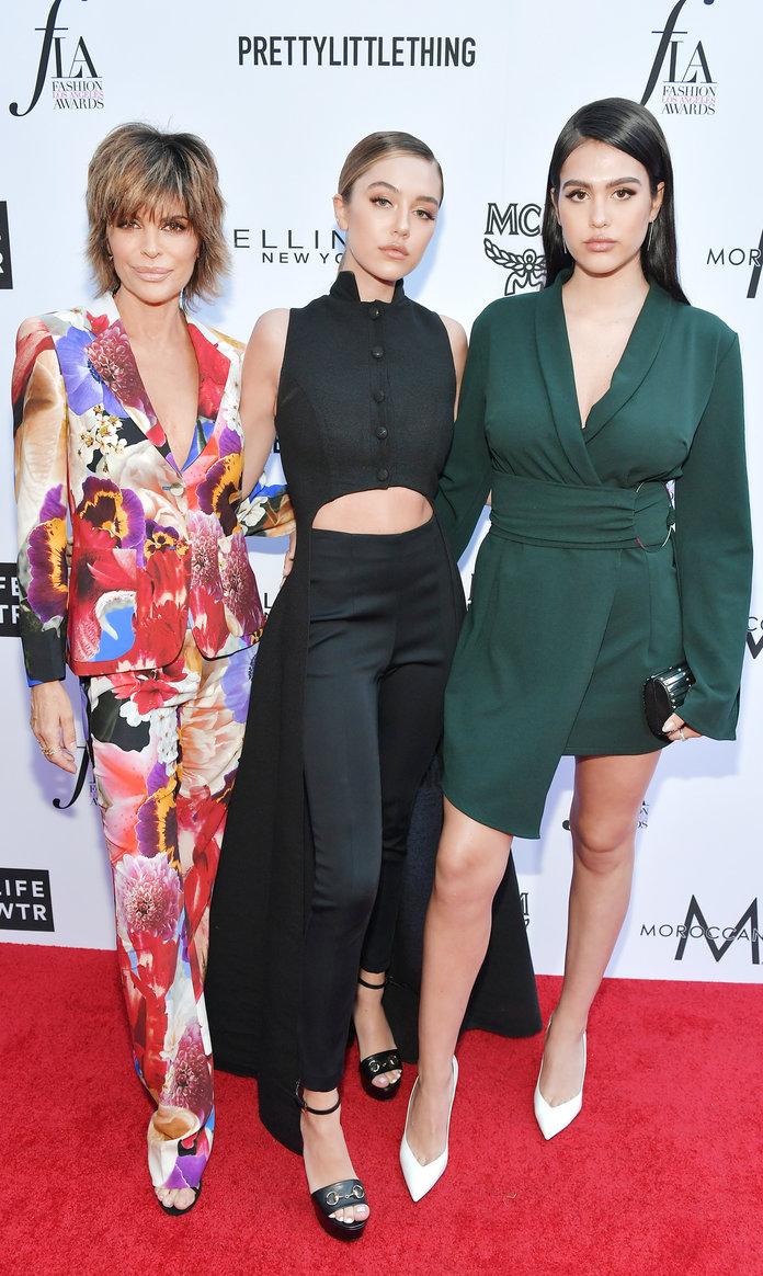 Lisa Rinna, Delilah Belle Hamlin, and Amelia Gray Hamlin Daily Front Row Fashion Awards