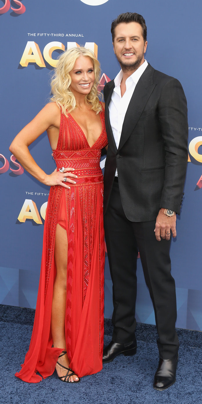 <p>Caroline Boyer and Luke Bryan</p>