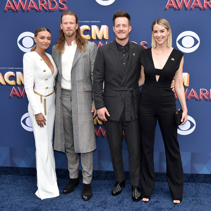 <p>Brittney Marie Kelley, Brian Kelley, Tyler Hubbard, and Hayley Hubbard</p>