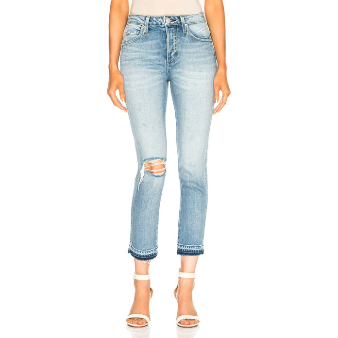 <p>Babe Straight Cropped Jeans</p>