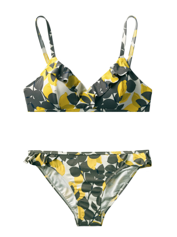PRINTED TRIANGLE TOP BIKINI