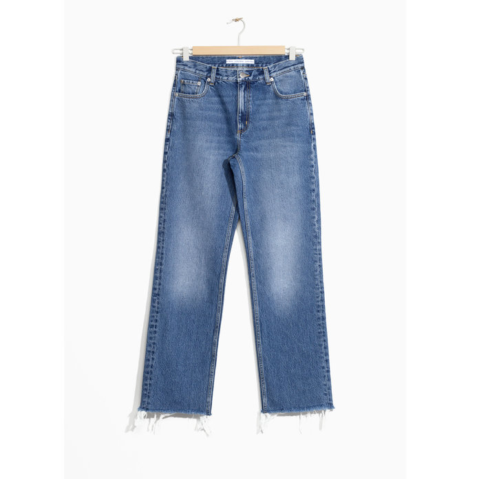 <p>& Other Stories Faded Raw Edge Jeans</p>