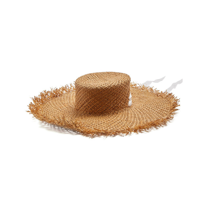 <p>Albus Lumen Tie Neck Straw Hat</p>