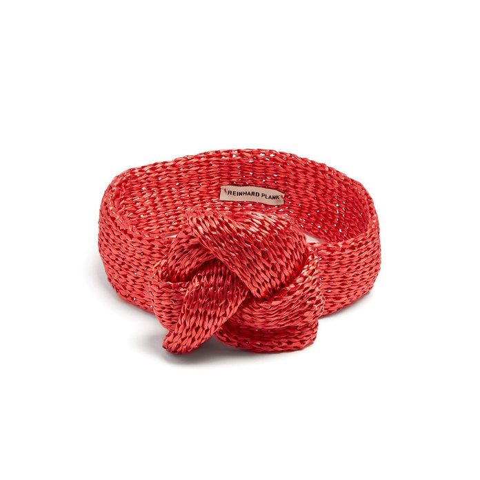 <p>Reinhard Plank Hats Red Straw headband</p>