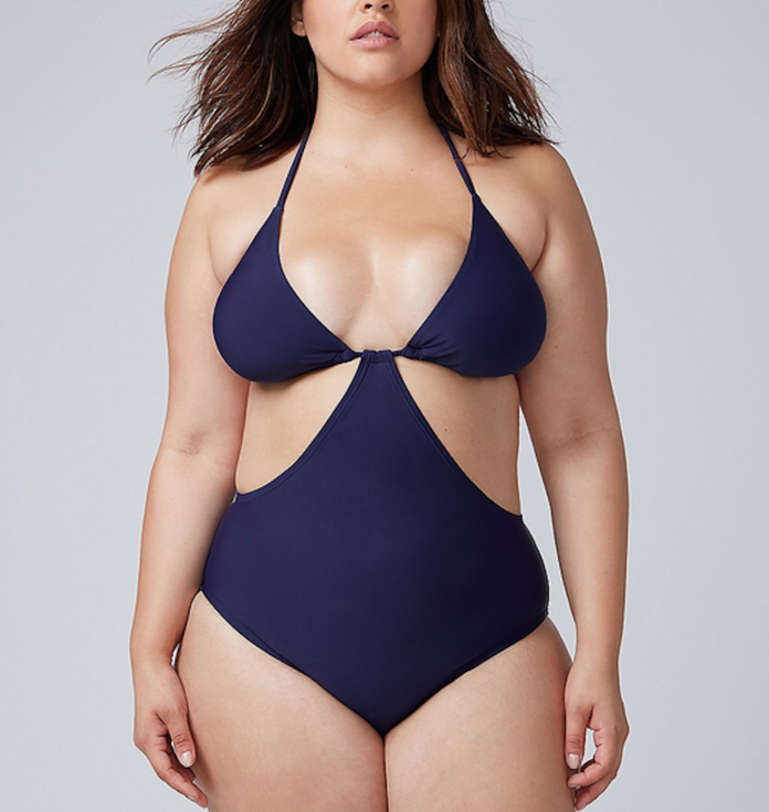 Triangle Cup String Monokini by Lane Bryant