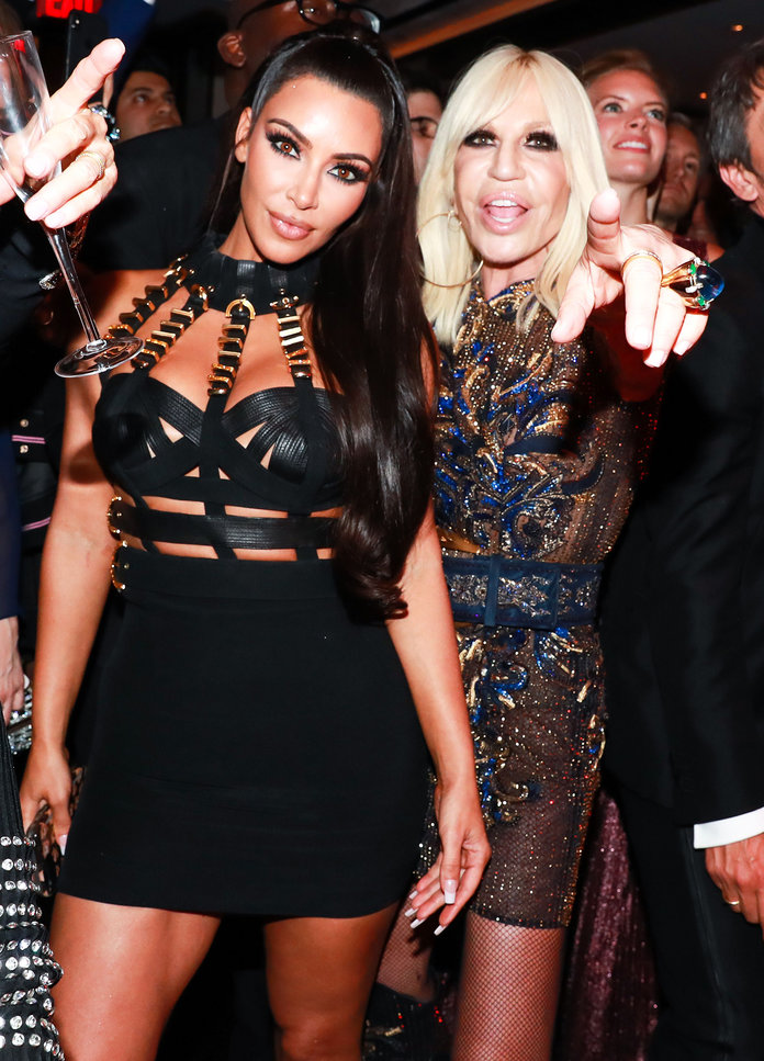 Clone of 2018 Met Gala After Parties - Kim Kardashian and Donatella Versace LEAD
