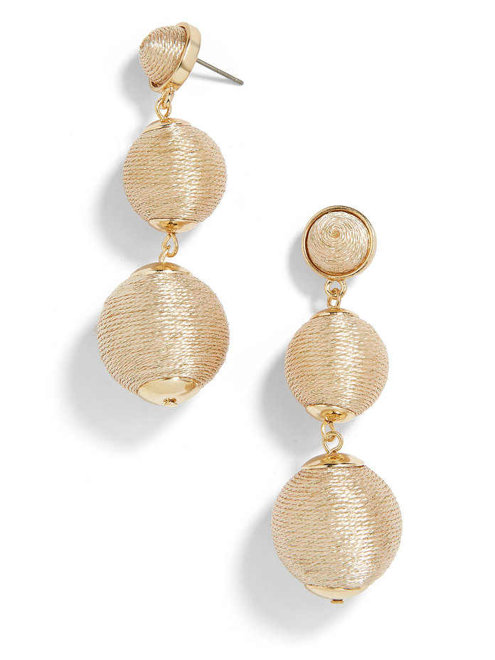 <p>Ball Drop Earrings in Champagne</p>